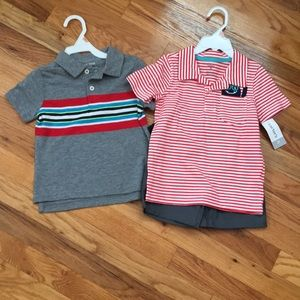 NWT toddler boy polo and short set size 2T.
